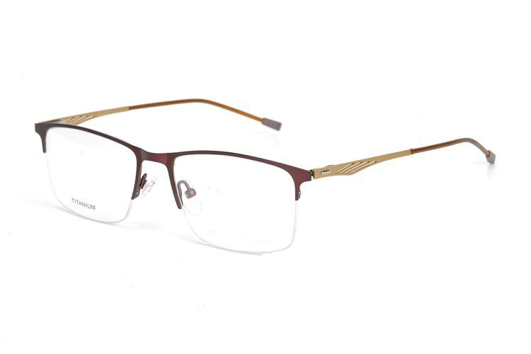 Titanium Glasses Frame Men Ultralight Square Myopia Prescription Eyeglasses 2018 Male Metal Full Optical Frame Screwless P8836 in Men 39 s Eyewear Frames from Apparel Accessories