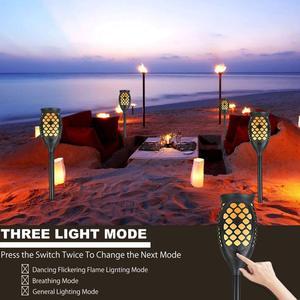 Image 5 - Güneş meşale ışıkları, su geçirmez titrek alevler güneş ışıkları açık 99 LEDs peyzaj dekorasyon ışıklandırma şafak alacakaranlık otomatik
