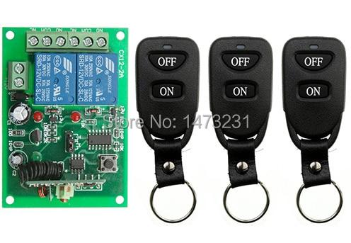 Nueva DC12V 10A 2CH sistema teleswitch inalámbrica interruptor de control remoto