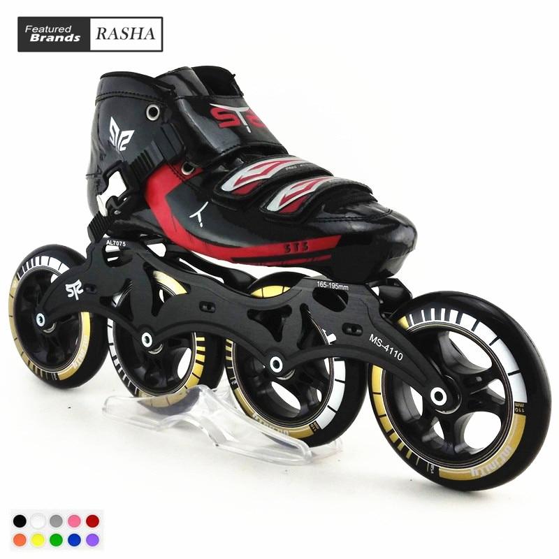 Speedskates STS Rouleau De Patinage main inline vitesse skat de patinage chaussures patins à roulettes patins de 4 rodas Haute qualité 8 couleur