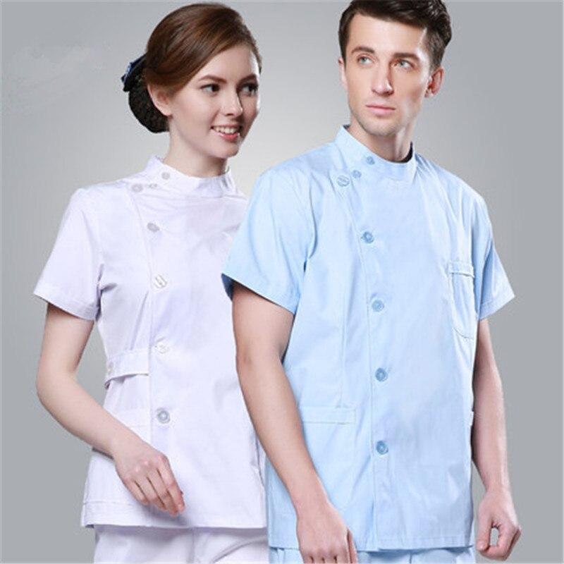 baf6066bf69 Nurse Scrubs Suit Men and Women Short Sleeve Dentists Uniform ICU Single  Breasted Dental Doctor Uniform Lab Clothing Sets Retail-in Scrub Sets from  Novelty ...