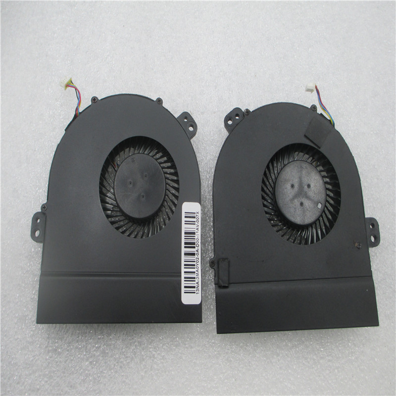 New Original CPU fan for DELL M15X R1 R2 laptop cooling fan cooler DFS200805000T FG22 09F65X DFS200805000T FG23 09M2MV new original cpu cooling fan for asus k550d k550dp dc brushless cpu cooler radiators laptop notebook cooling fan ksb0705ha cm1c