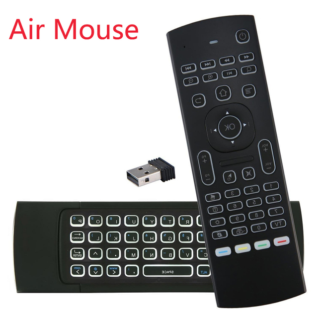 Backlit Air Mouse T3 Smart Remote Control 2.4G RF Wireless Keyboard MX3 MX3-L For X96 TX3 mini A95X H96 pro Android TV Box