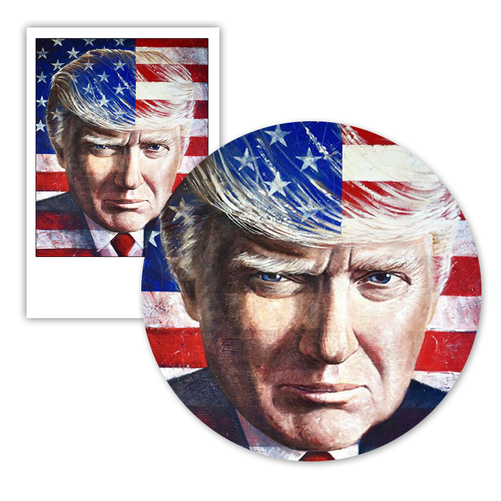 Donald Trump Abstract Watercolor Wall Art Posters And Prints American Flag Modern Home Decoration Living Room Canvas Painting in Painting Calligraphy from Home Garden