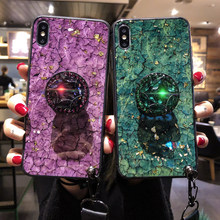 Diamond stand fox furry pompom for Huawei p20 pro plus flake strap cover for Huawei nova 2s 3 3i 3E mate 20 pro honor 8X 10(China)