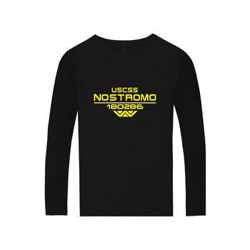 Camiseta de manga larga con estampado de Alien, camiseta de manga larga...