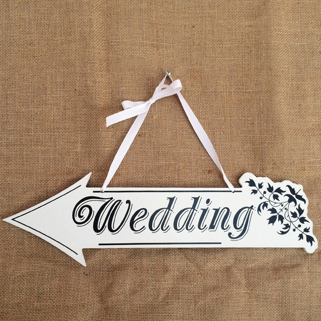 Wedding Welcome Board White Wooden Signs Wedding Photo Props ...
