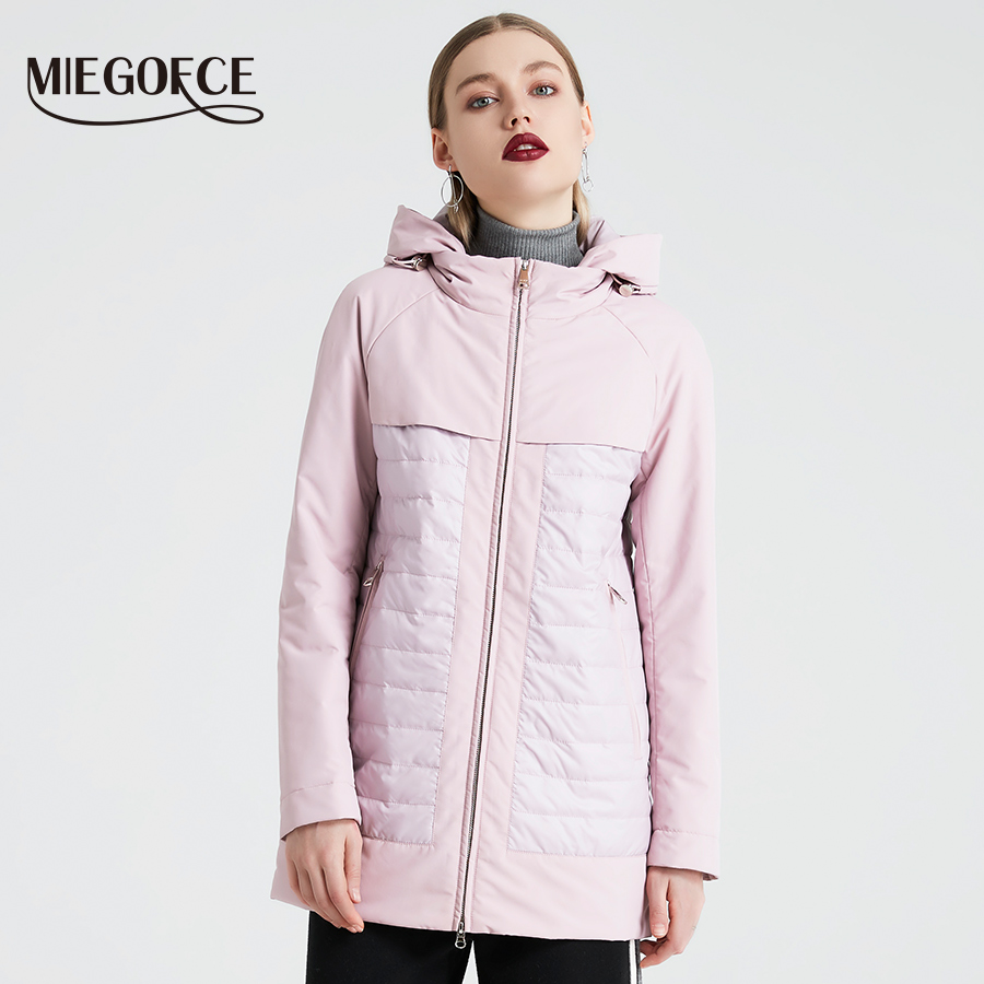 MIEGOFCE 2019 New Fashion Collection Spring Autumn Women s Short Jacket With A Hood Windproof Insulated