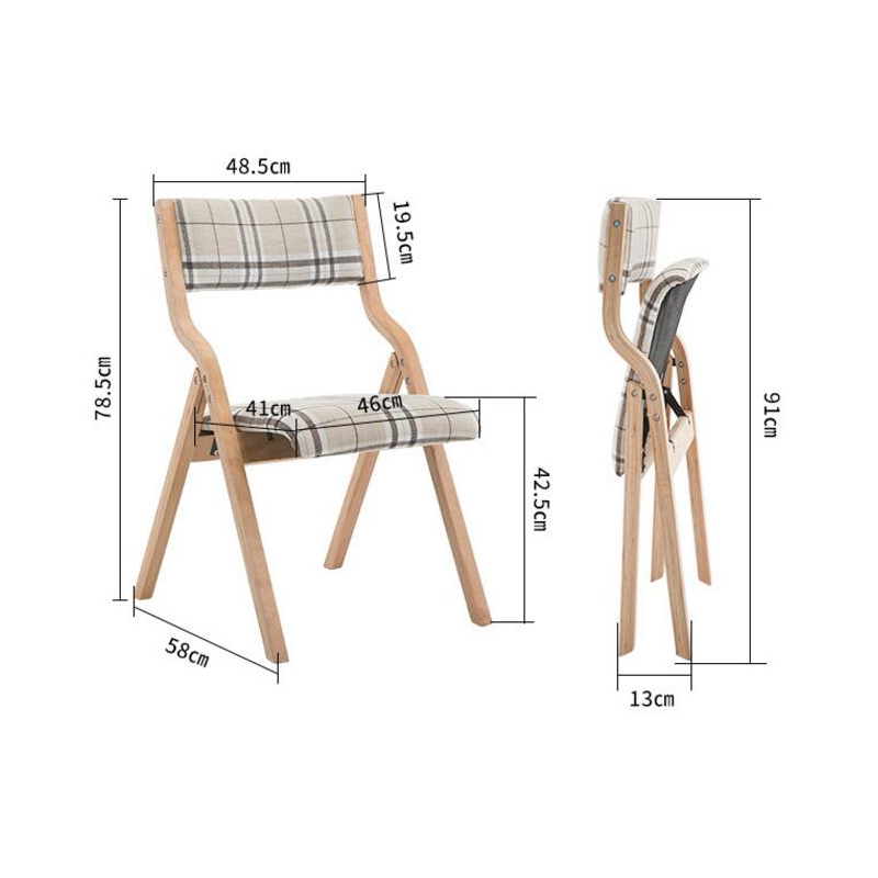 folding chairs wood dining. sufeile folding chair scandinavian designer simple casual wooden elbow horn solid wood dining office d50-in beach chairs from furniture on t