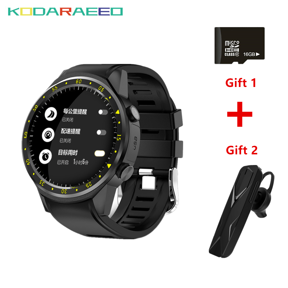 F1 Sport Smart Watch GPS Camera Support Stopwatch Bluetooth Smartwatch SIM Card Wristwatch for Android IOS Phone+Headset+TF Card