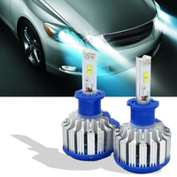 Car Styling H3 LED 35W 3500LM 6000K Super Bright Car Headlights Auto Front Bulb Automobile Headlamp Car Lighting 1 pair DRL