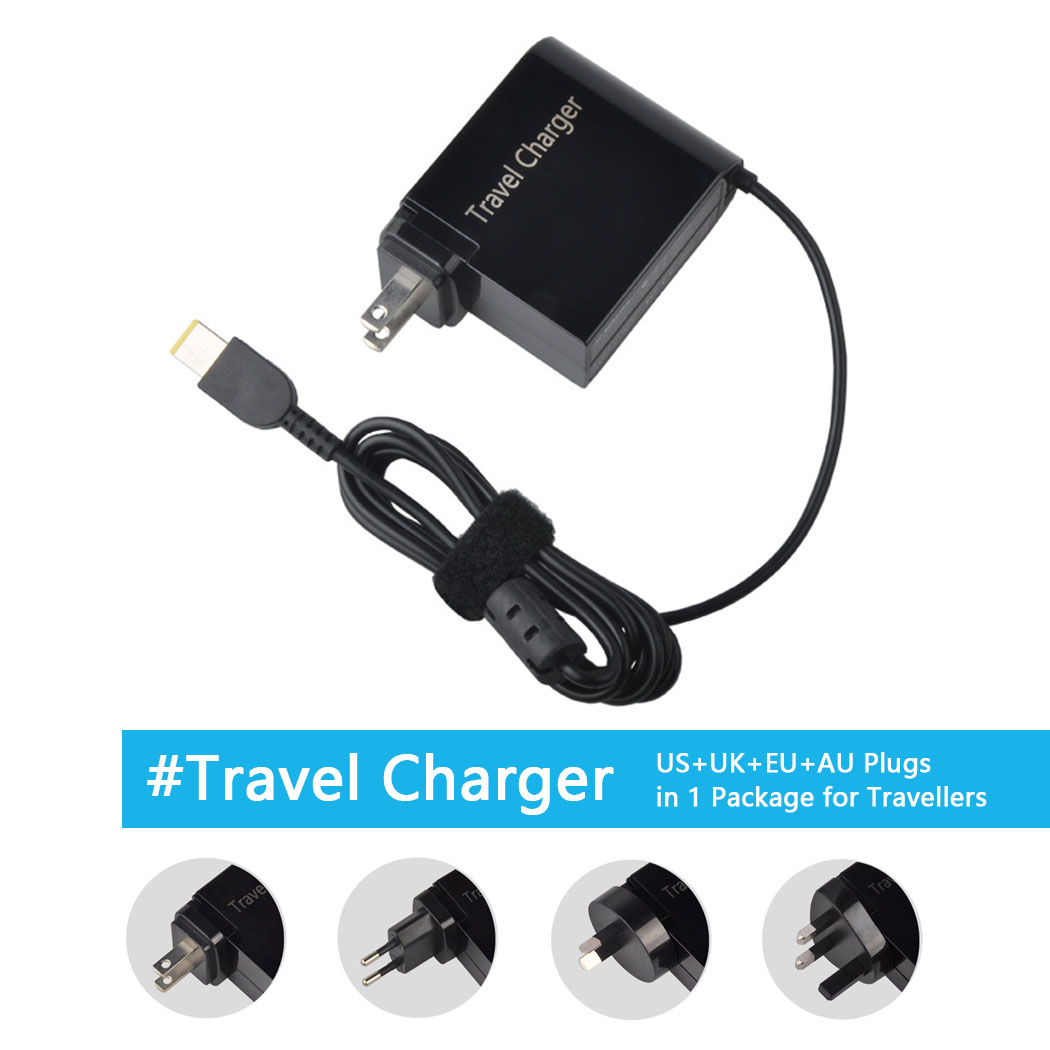 20V 3.25A 65W Power Adapter Travel Charger For Lenovo X1 Carbon G400 G500 G505 G405 YOGA 13 With US UK EU AU 4 Plugs 20v 2 25a 3 25a 4 5a square hole with a needle 65w 90w car adapter charger for lenovo e531 s3 s5 x1 carbon yoga 13 flex14 15 t46