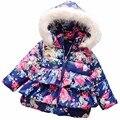 Jaqueta de inverno crianças hello kitty dos desenhos animados crianças casacos de inverno para as meninas grossas hoodies do bebê meninas jaqueta de roupas outerwear menina