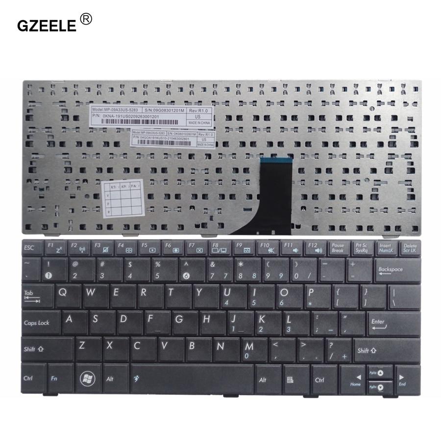 Новая клавиатура GZEELE для ASUS EEE PC 1001 1001H 1005 1005H 1005HD 1005HA 1008 1008 H, черная клавиатура для ноутбука
