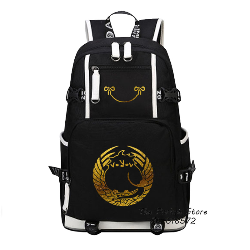 2019 nouveau Touken Ranbu en ligne or impression sac à dos toile voyage sacs Anime sacs d'école militaire sac à dos pour ordinateur portable