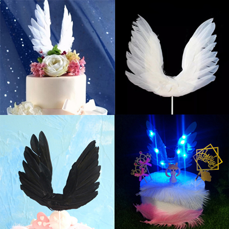 Big Size White Angel Wings Cupcake Toppers Collection Cake ...