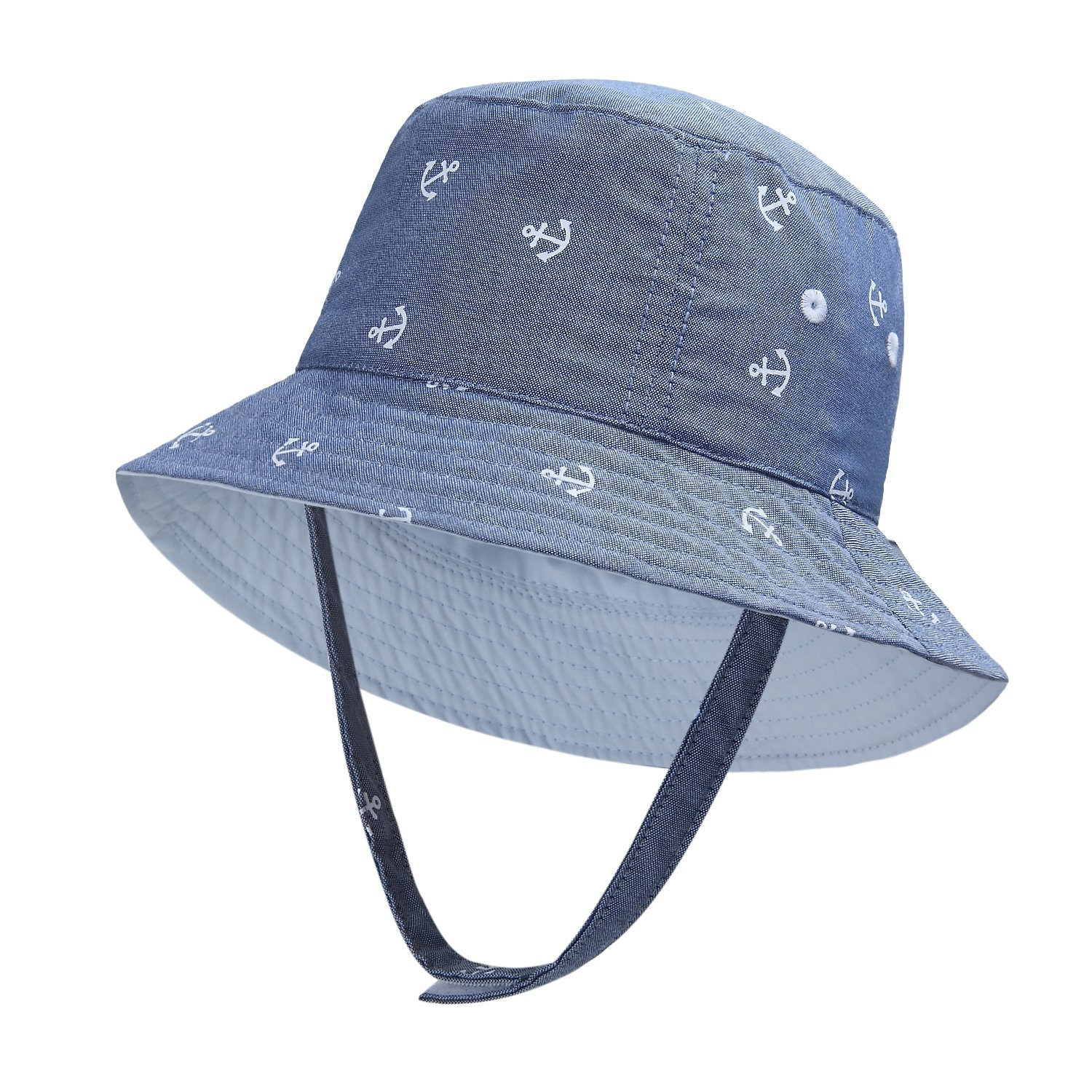 8ee4b01a282 Detail Feedback Questions about Anchor Print Baby Sun Protection Hat for Kids  Sun Hat Boys Girls Bucket Hat Beach Hat on Aliexpress.com
