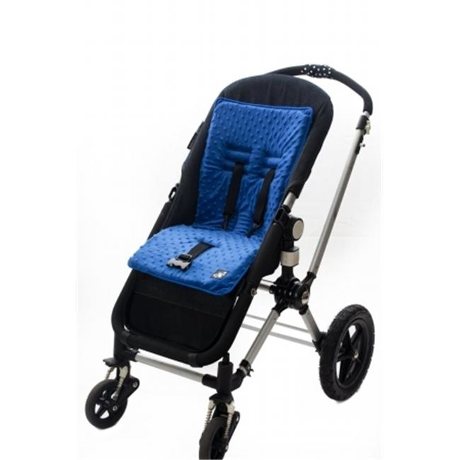 Baby-Beehaven 0 799599 272584 Cush 'n Go Memory Foam Stroller Cushion-MALIBLUE STRIPE