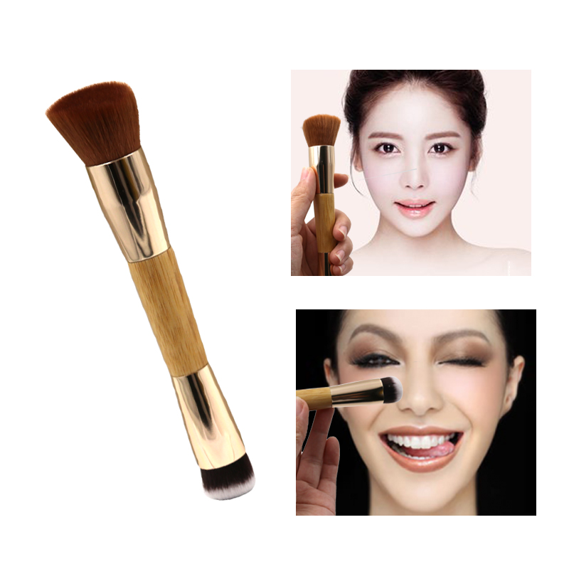 1Pc Tart Swirl Soft Synthetic Hair Bamboo Handle Makeup Contour Powder Blush Single Brush Foundational Soft Make Up Tools