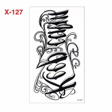 Temporary Arabic Tattoos For Men And Women YF-H003 Keep Calm Letters Fake Temporary 3d Tattoos Large Black Arm Sleeve
