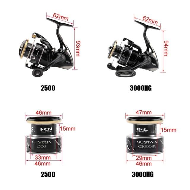 Best 100% Original Shimano SUSTAIN Spinning Fishing Reel Fishing Reels 8e964068b632745785ab6f: 2500 Series|3000 Series|4000 Series|5000 Series
