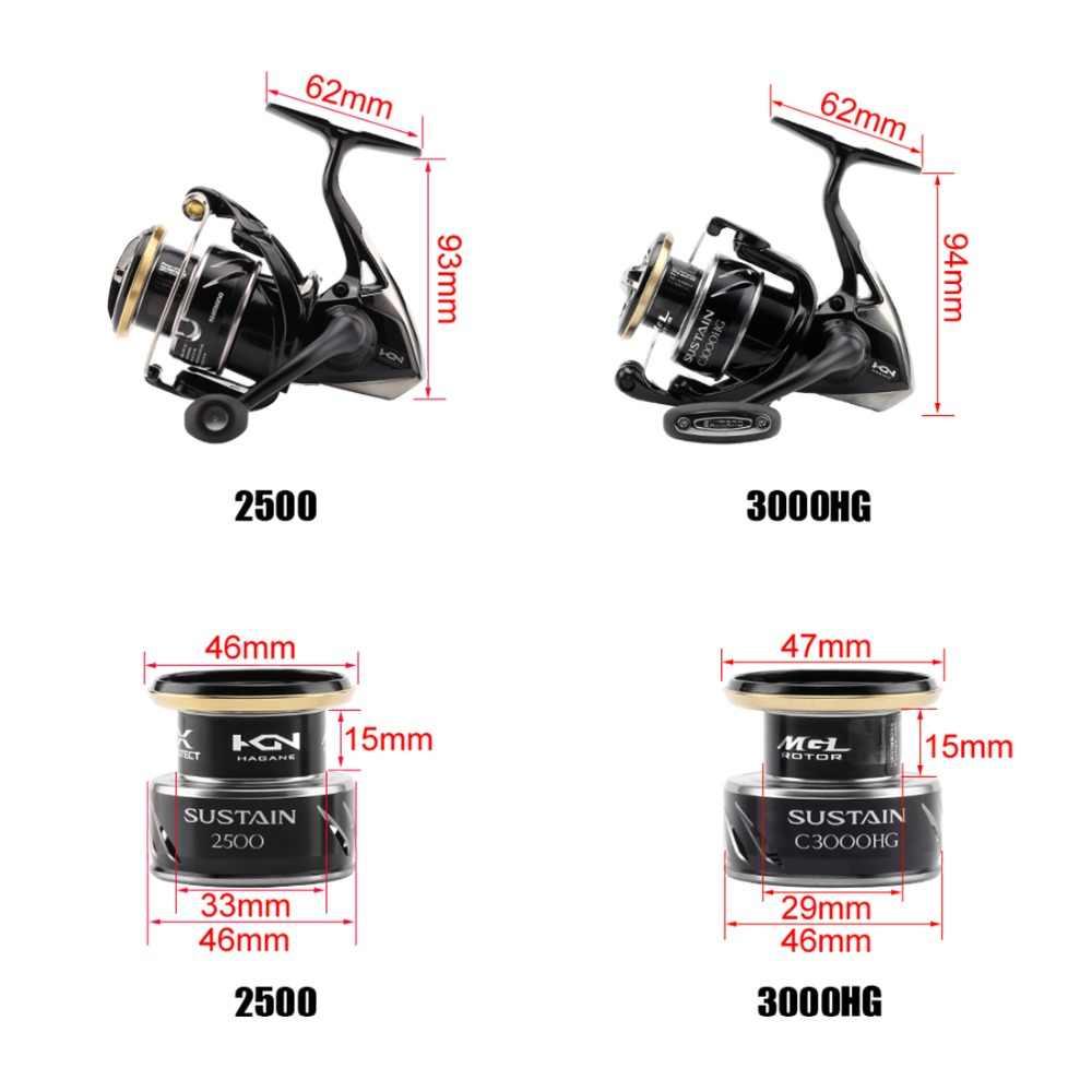 2017 NEW MODEL SHIMANO SUSTAIN 2500 2500HG C3000HG 4000XG 5000XG Spinning reel