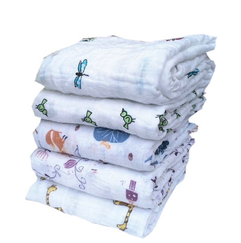 Aden Anais Swaddleme Muslin Cotton Baby Swaddle Envelopes for Babies Character Owl Bird Lion Car Blanket Bath Towel