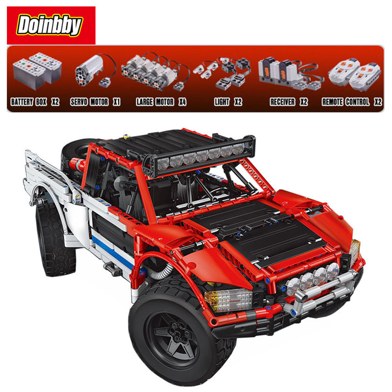 23013 Genuine Technic SUV Off-Road Car Pickup Truck With Remote Control Model Building Block Bricks Children Gifts pilotage конструктор cada technic pickup