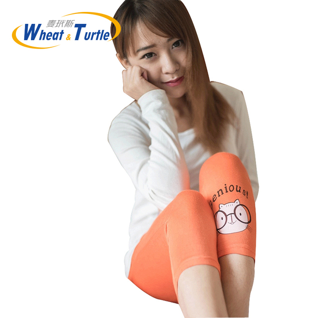 Character Cute Cartoon Maternity Skinny Leggings 2016 Hot Sale All Match Good Quality Cotton Short Leggings For Pregnant Women