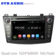 Quad core 1024*600 screen android 5.1 Car dvd GPS player for mazda 3 with WIFI 3G usb auto radio bluetooth mirror link