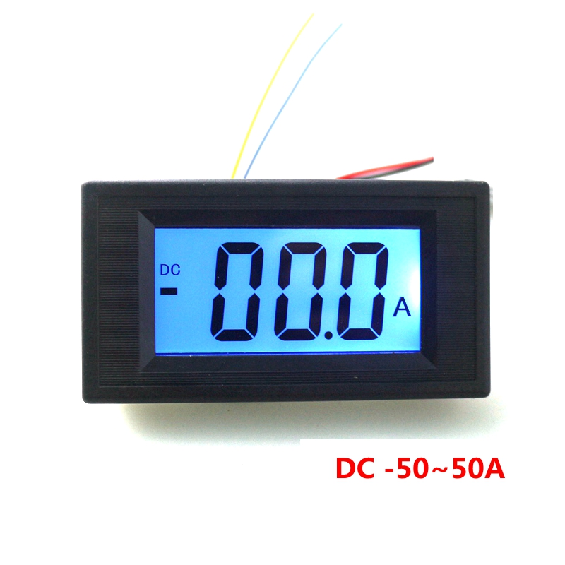 DC 200uA Digital LCD Ammeter //amp Meter Monitor battery Charge Discharge Shunt