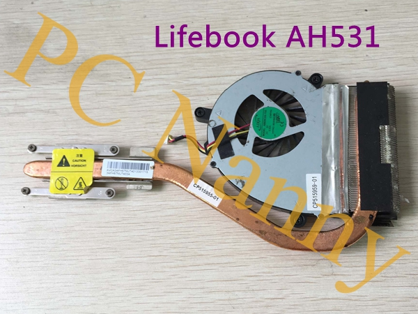 Genuine for Fujitsu Lifebook AH531 CP515959-01 CP515955-01 heatsink cpu cooling fan аккумулятор для ноутбука for fujitsu
