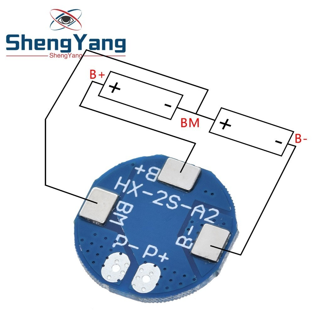 ShengYang 2S 5A литий-ионная батарея 7,4 В 8,4 в 18650 Защитная плата зарядного устройства bms pcm для литий-ионного аккумулятора
