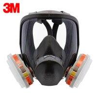 3M 6800 6009 Full Facepiece Reusable Respirator Filter Protection Masks Respiratory Mercury Organic Vapor Or Chlorine