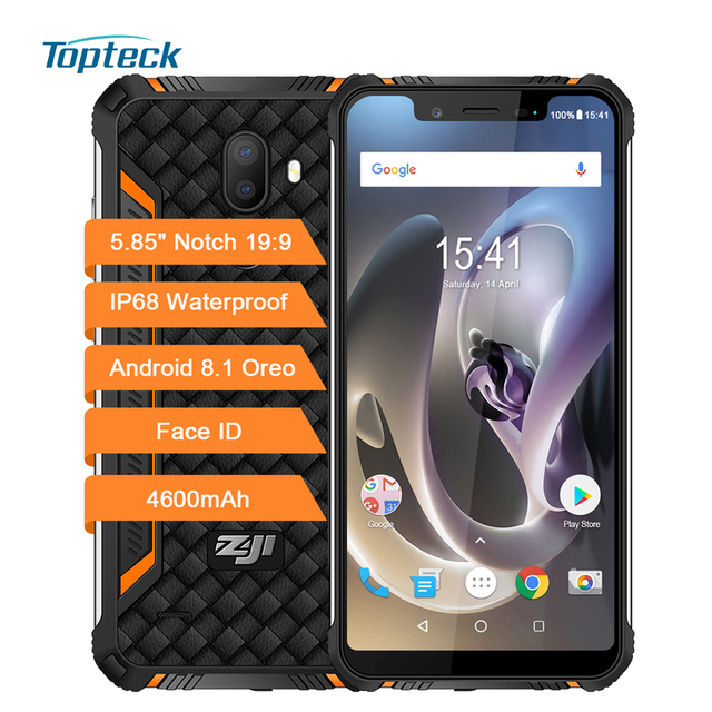 HOMTOM ZOJI Z33 4600mAh IP68 Waterproof Mobile Phone 3GB+32GB 5.85 inch Notch Screen HD+ 19:9 Android 8.1 Face ID 4G Smartphone