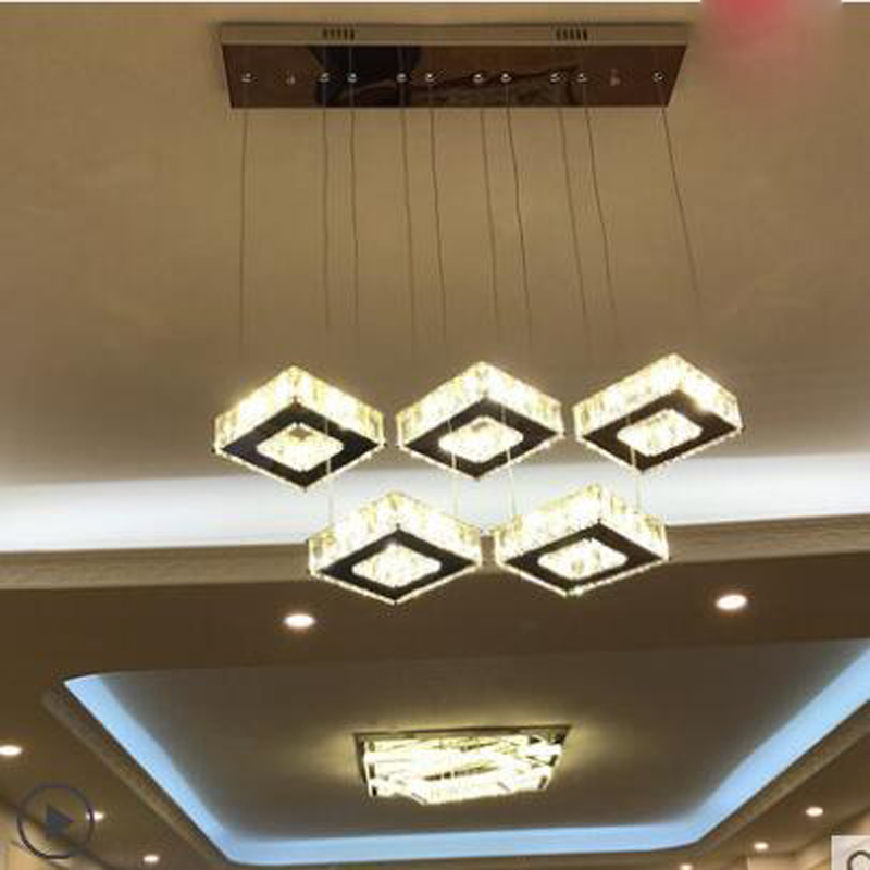 Creative personality chandelier modern minimalist led restaurant chandelier dining room crystal lamp clothing store lighting LED modern and simple aluminum chandelier creative personality restaurant bar clothing store chandelier free shipping