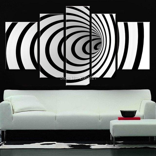 Science Fiction Decoration Design Moderne Noir Blanc Mur Art