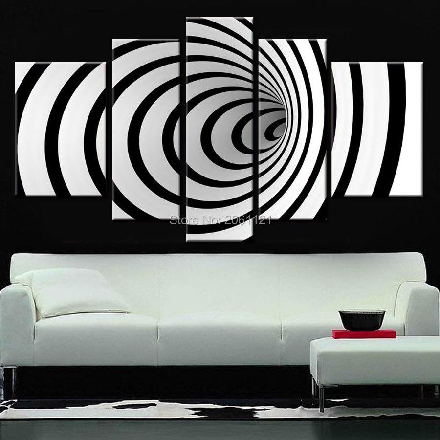 Modern Pop Art Style Apartment: Science Fiction Decoration MODERN Design Black White Wall