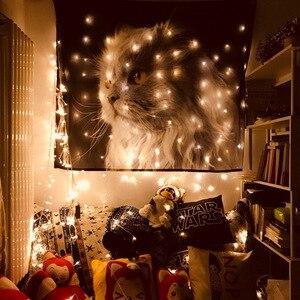 Image 3 - Бохо богемный МАНДАЛА ГОБЕЛЕН настенный Лев Тигры пляжные коврики животные вечерние украшения черный фон для фотосъемки