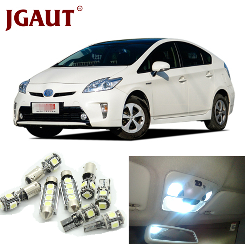 JGAUT For 2004-2015 Toyota Prius White LED Lights Interior Package Kit For Map Dome Licens Trunk/Cargo area Step/Courtesy Light