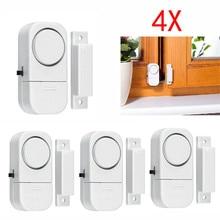 4Pcs Wi-fi Residence Window Door Burglar Safety Alarm System Magnetic Sensor Houseware Places of work Garages Defending Wholesale