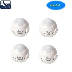 NEO COOLCAM 4pcs/Lot NAS-PD01Z Z-wave Pus PIR Motion Sensor Detector Home Automation Alarm System Motion Alarm