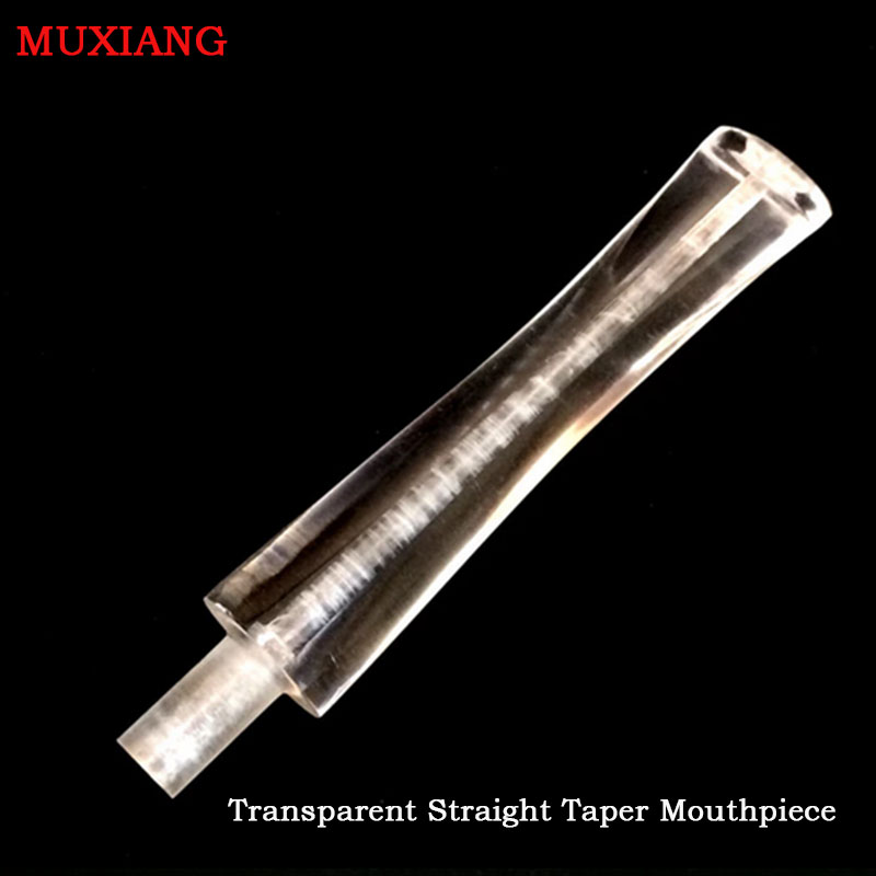 MUXIANG Transparent Straight Taper 3mm Metal Filter Acrylic DIY Briar Wood Smoking Pipe Mouthpieces Pipe Fittings Cheap be0057