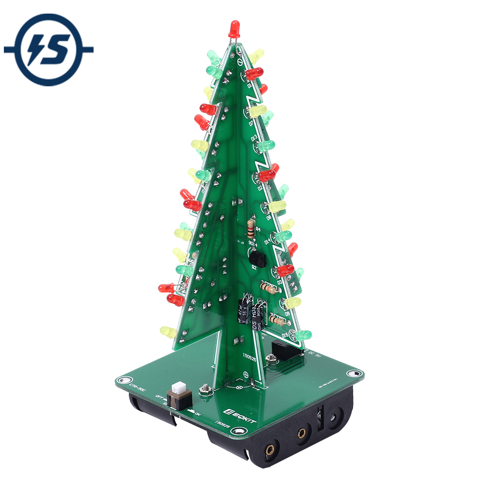 Integrated Circuits Open-Minded 3d Tree Led Diy Kit 3 Colors/colorful Led Flash Circuit Parts Electronic Fun Suite Gift Christmas Trees Led Kit Suitable For Men And Women Of All Ages In All Seasons Electronic Components & Supplies