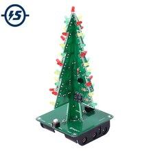 3D Tree LED DIY Kit 3 Colors/Colorful LED Flash Circuit Parts Electroni