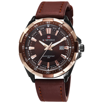 NAVIFORCE Men's Waterproof Calendar Date Military Leather Quartz Watches 1