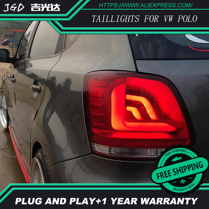 Car Styling tail lights for VW POLO 2010-2016 taillights LED Tail Lamp rear trunk lamp cover drl+signal+brake+reverse for vw volkswagen polo mk5 6r hatchback 2010 2015 car rear lights covers led drl turn signals brake reverse tail decoration
