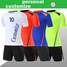 Игровые футболки на заказ Персонализированная футбольная рубашка пустой обычный футбольный набор Любительская команда DIY Набор для вышивания Логотип Форма