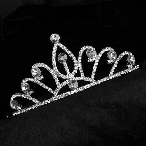 Noble Crystal Tiara celada de boda Simple joyería nupcial Head Crown 1107(China (Mainland