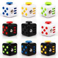 New 9 Colours Magic Cube Toy anti anxiety stress cube toy dice gifts for Children and adult Anti-stress hand spinner